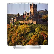 Reichsburg Castle Shower Curtain by Louise Heusinkveld