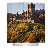 Reichsburg Castle Shower Curtain by Louise Heusinkveld