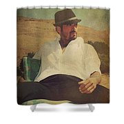 Relax And Stay A While Shower Curtain by Laurie Search