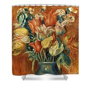 Renoir: Bouquet Of Tulips Shower Curtain by Granger