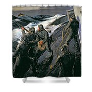Rescue Shower Curtain by Thomas Harold Beament