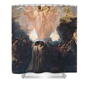 Resurrection Of The Dead Shower Curtain by Victor Mottez