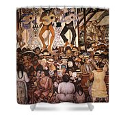 Rivera: Day Of The Dead Shower Curtain by Granger