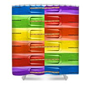 Road Runner Rainbow Shower Curtain by Gordon Dean II