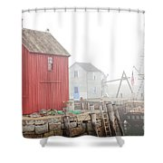 Rockport Fog Shower Curtain by Susan Cole Kelly