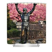 Rocky In Spring Shower Curtain by Bill Cannon