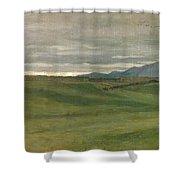 Roman Landscape Shower Curtain by Antoine Auguste Ernest Hebert
