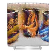 Romanian Vases Shower Curtain by Jeff Kolker