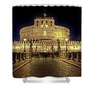 Rome Castel Sant Angelo Shower Curtain by Joana Kruse