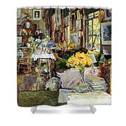 ROOM OF FLOWERS, 1894 Shower Curtain by Granger
