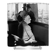 ROOSEVELT AND CHURCHILL Shower Curtain by Granger