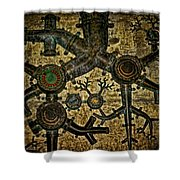 Roots Shower Curtain by Heather Applegate