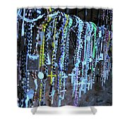 Rosary Shower Curtain by Angela Wright
