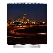 Round The Bend Shower Curtain by Jonas Wingfield