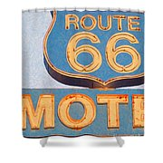 Route 66 Motel Seligman Arizona Shower Curtain by Wingsdomain Art and Photography