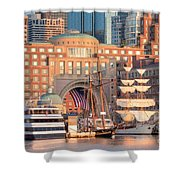 Rowes Wharf Shower Curtain by Susan Cole Kelly