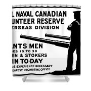 Royal Naval Canadian Volunteer Reserve Shower Curtain by War Is Hell Store