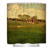 Rural Cottage Shower Curtain by Jill Battaglia
