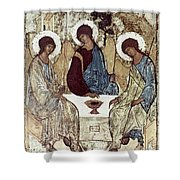 Russian Icons: The Trinity Shower Curtain by Granger