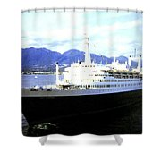S S Rotterdam Shower Curtain by Will Borden