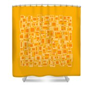 Saffron Yellow Abstract Shower Curtain by Frank Tschakert