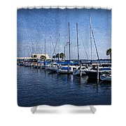 Sailboats Shower Curtain by Sandy Keeton
