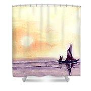Sailing Shower Curtain by Anil Nene