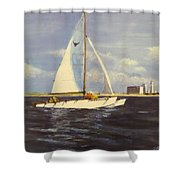 Sailing In The Netherlands Shower Curtain by Jack Skinner