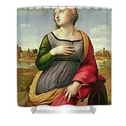 Saint Catherine of Alexandria Shower Curtain by Raphael