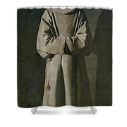Saint Francis Shower Curtain by Francisco de Zurbaran