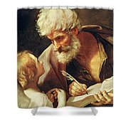 Saint Matthew Shower Curtain by Guido Reni