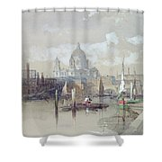 Saint Pauls from the River Shower Curtain by David Roberts