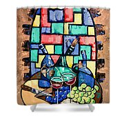 Salute Happy Hour In Tuscany Shower Curtain by Anthony Falbo