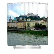 Salzburg Over The Danube Shower Curtain by Carol Groenen