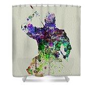 Samurai Shower Curtain by Naxart Studio
