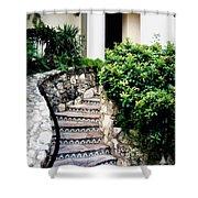 San Antonio Stairway Shower Curtain by Will Borden