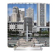 San Francisco - Union Square - 5D17938 Shower Curtain by Wingsdomain Art and Photography