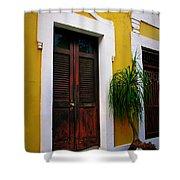 San Juan Doors Shower Curtain by Perry Webster