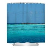 Sand Bar Island Shower Curtain by Susanne Van Hulst