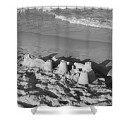 Sand Castles By The Shore Shower Curtain by Rob Hans