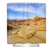 Sandstone Wonders Shower Curtain by Chad Dutson