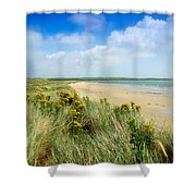 Sandunes At Fethard, Co Wexford, Ireland Shower Curtain by The Irish Image Collection