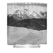 Sangre De Cristo Mountains And The Great Sand Dunes Bw V Shower Curtain by James BO  Insogna