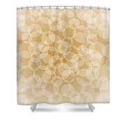 Sanguine Abstract Circles Shower Curtain by Frank Tschakert