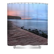 Santa Barbara Beach Shower Curtain by Gaspar Avila
