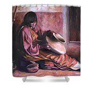 Santa Clara Potter Shower Curtain by Nancy Griswold