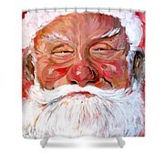 Santa Claus Shower Curtain by Tom Roderick