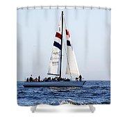 Santa Cruz Sailing Shower Curtain by Marilyn Hunt