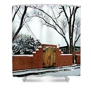 Santa Fe Residential Street Scene Shower Curtain by Diana Dearen