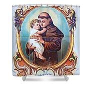 Santo Antonio de Lisboa Shower Curtain by Gaspar Avila